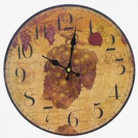 RELOJ PARED RED UVAS