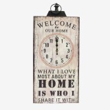 RELOJ PARED RCTG WELCOME HOME BL