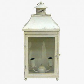 FAROL PARED 2L RECTO BLANCO