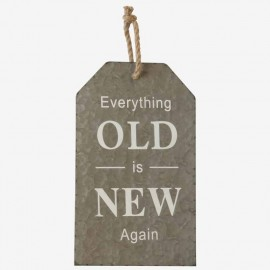 "TABLA CARTEL "" OLD NEW""HIERRO GR"