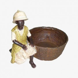 NIÑO AFRICANO RODILLA EN TIERRA