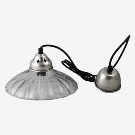 LAMPARA TECHO ONDAS CRISTAL