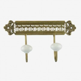 PERCHA PLACA DE 2 FINAL FLOR DOR