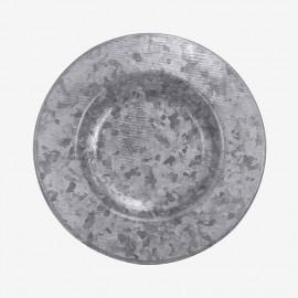 JGO DE 4 PLATO PAN  GRIS GALVANI