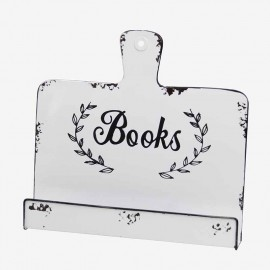 "STAND LIBRO METAL BLANCO ""BOOKS"""